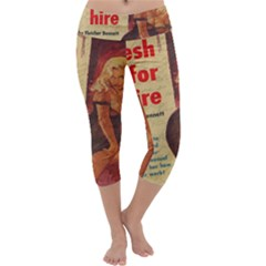 Vintage girl Capri Yoga Leggings