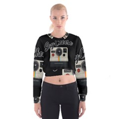 Say Cheese Cropped Sweatshirt