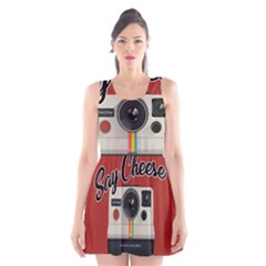 Say Cheese Scoop Neck Skater Dress