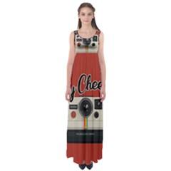 Say Cheese Empire Waist Maxi Dress