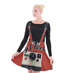 Say Cheese Suspender Skater Skirt