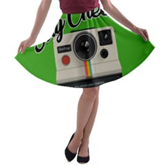 Say Cheese A-line Skater Skirt