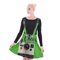 Say Cheese Suspender Skater Skirt