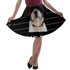 Bad dog A-line Skater Skirt