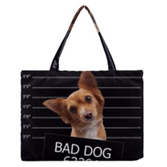 Bad dog Medium Zipper Tote Bag