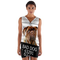 Bad dog Wrap Front Bodycon Dress
