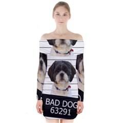 Bad dog Long Sleeve Off Shoulder Dress