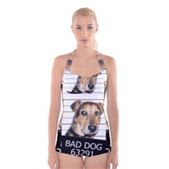 Bad dog Boyleg Halter Swimsuit