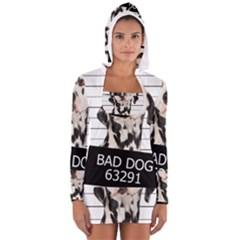 Bad dog Women s Long Sleeve Hooded T-shirt