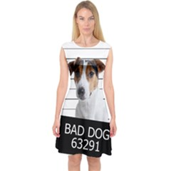 Bad dog Capsleeve Midi Dress