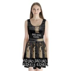 Bad dog Split Back Mini Dress
