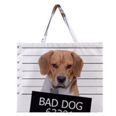 Bad dog Zipper Large Tote Bag
