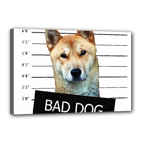 Bad dog Canvas 18  x 12