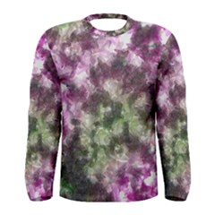 Purple green paint texture          Men Long Sleeve T-shirt