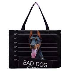 Bad dog Medium Zipper Tote Bag