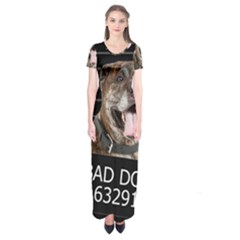 Bad dog Short Sleeve Maxi Dress