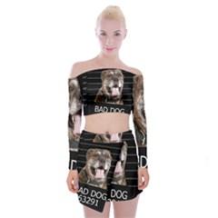 Bad Dog Off Shoulder Top With Skirt Set