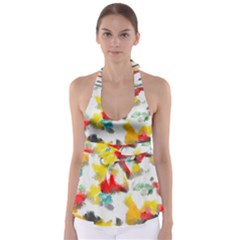 Colorful paint stokes               Babydoll Tankini Top