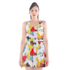 Colorful paint stokes      Scoop Neck Skater Dress