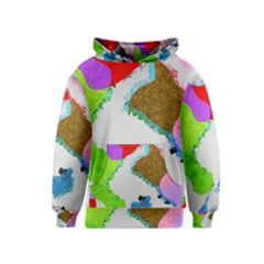 Painted shapes            Kid s Pullover Hoodie
