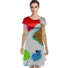 Painted shapes            Cap Sleeve Nightdress