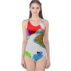 Painted shapes            Women s One Piece Swimsuit