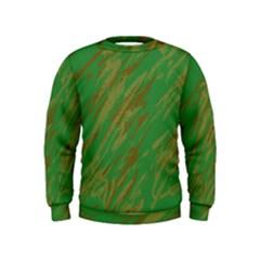 Brown green texture              Kid s Sweatshirt