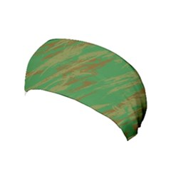 Brown Green Texture             Yoga Headband