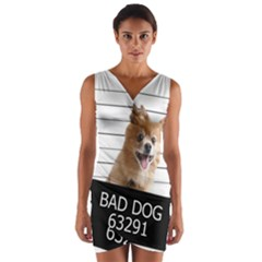 Bad dog Wrap Front Bodycon Dress