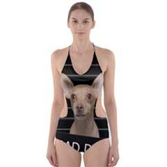 Bad dog Cut-Out One Piece Swimsuit