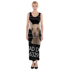 Bad dog Fitted Maxi Dress