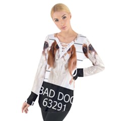 Bad dog Women s Tie Up Tee