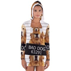 Bad dog Women s Long Sleeve Hooded T-shirt
