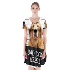 Bad dog Short Sleeve V-neck Flare Dress