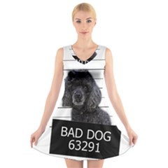 Bad dog V-Neck Sleeveless Skater Dress