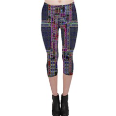 Cad Technology Circuit Board Layout Pattern Capri Leggings