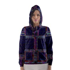 Cad Technology Circuit Board Layout Pattern Hooded Wind Breaker (Women)