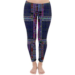 Cad Technology Circuit Board Layout Pattern Classic Winter Leggings