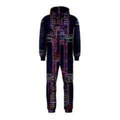 Cad Technology Circuit Board Layout Pattern Hooded Jumpsuit (Kids)