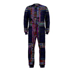 Cad Technology Circuit Board Layout Pattern OnePiece Jumpsuit (Kids)