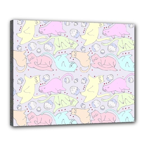 Cat Animal Pet Pattern Canvas 20  x 16