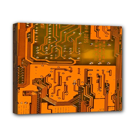 Circuit Board Pattern Canvas 10  x 8
