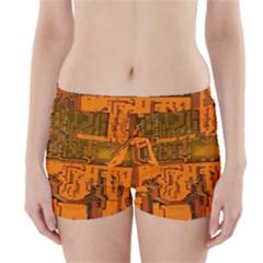 Circuit Board Pattern Boyleg Bikini Wrap Bottoms