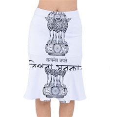 Seal Of Indian State Of Tripura Mermaid Skirt