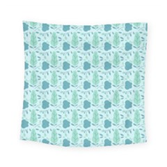 Flowers And Leaves Pattern Square Tapestry (small)