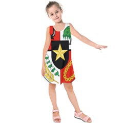 Shield Of National Emblem Of Indonesia Kids  Sleeveless Dress