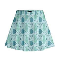 Seamless Floral Background  Mini Flare Skirt