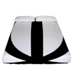 Emblem Of Iran Fitted Sheet (queen Size)