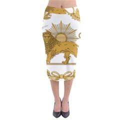 Lion & Sun Emblem Of Persia (iran) Midi Pencil Skirt