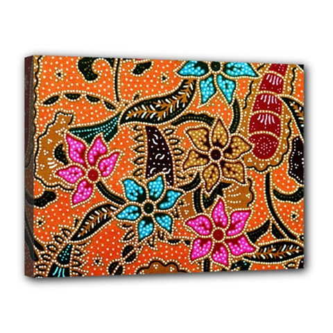 Colorful The Beautiful Of Art Indonesian Batik Pattern Canvas 16  x 12
